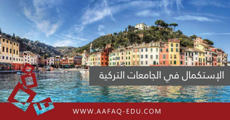 الإستكمال في الجامعات التركية