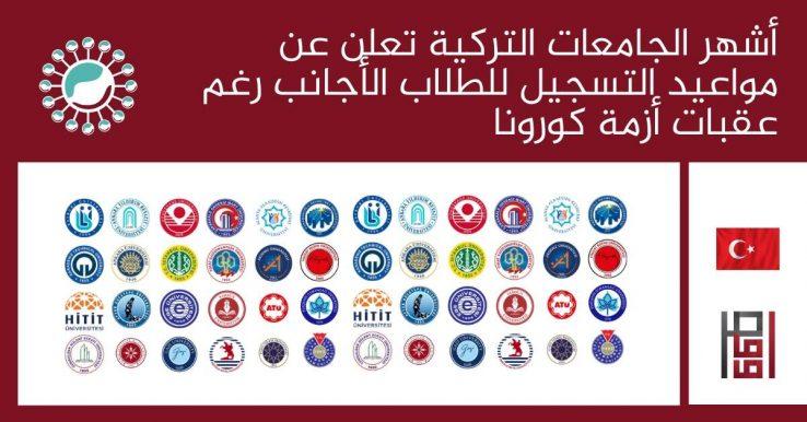 أشهر الجامعات التركية تعلن عن مواعيد التسجيل للطلاب الأجانب رغم عقبات أزمة كورونا